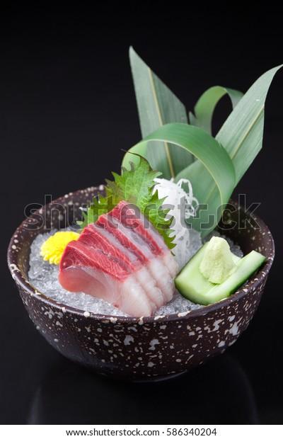Hamachi Sashimi Yellowtail Sashimi Stock Photo (Edit Now) 586340204