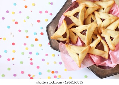 Hamantaschen cookies for Jewish holiday Purim