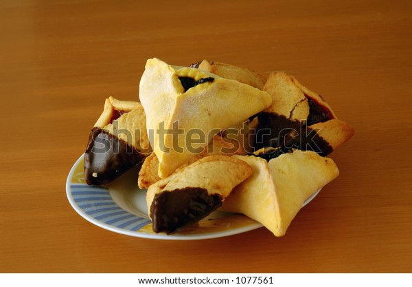Hamantashen, traditional pastry for the Jewish holiday of Purim