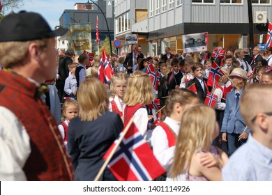 Hamar and Lillehammer, Norway - 17 May 2019: Constitution Day celebrations