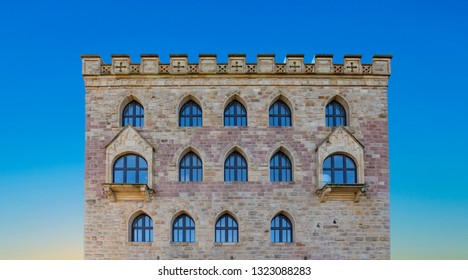At the Hambach Castle, Neustadt on the Wine Route, Rhineland-Palatinate, Germany, were the first German assembly took place in 1848