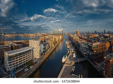 Hamburg from above with the Drone
