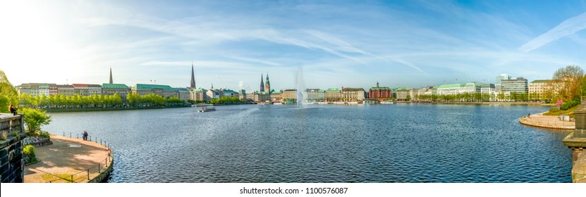 Hamburg, Binnenalster, Town Hall, Germany