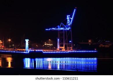 Hamburg blue port