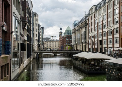 Hamburg City Alster River Buildings old Architecture