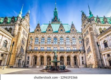 The Hamburg City Hall on a sunny day