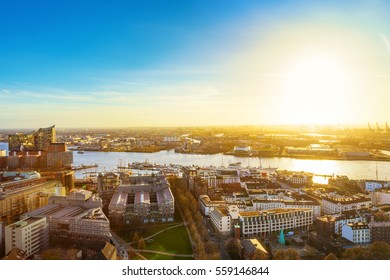 Hamburg cityscape, Germany