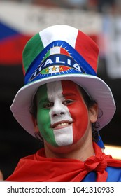Hamburg Germany, 06/22/2006: FIFA World Cup Germany 2006, Italian supporters before the Italy-Czech Rep. match