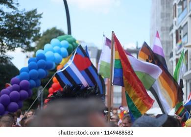 Hamburg, Germany 08.04.2018 - CSD Parade Christopher Street Day
