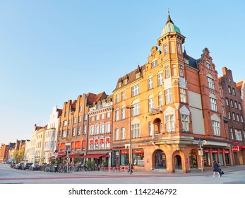 HAMBURG, GERMANY - APRIL 09, 2017: Lubeck old city center