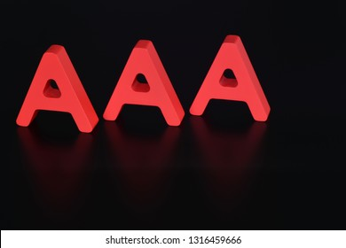 Hamburg /Germany - April 11, 2015: AAA - triple A rating concept image - credit rating sign - symbol for a financial credit notation