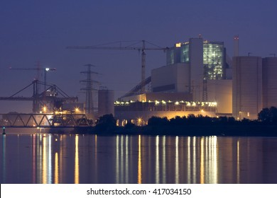HAMBURG, GERMANY - APRIL 19, 2016:Container ships and feeder ships at the Container Terminal Altenwerder, Moorburg, Hamburg, Hamburg, Germany, Europe