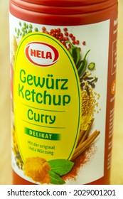 Hamburg, Germany - August 18,  2021:  Hela Gewürz Ketchup