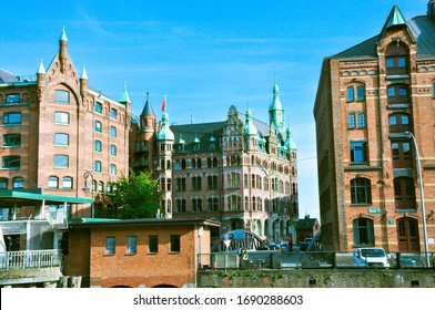 Hamburg / Germany - August 22 2019: view of the city streets
