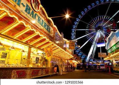 Hamburg, Germany - August 23rd 2011: A view inside the Dom Fun Fair in the city of Hamburg, Germany.