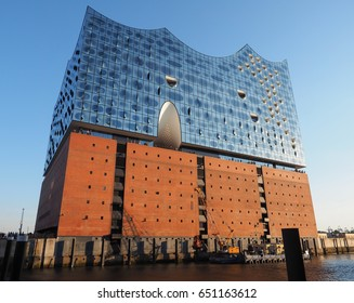 HAMBURG, GERMANY - CIRCA MAY 2017: Elbphilharmonie concert hall designed by Herzog and De Meuron