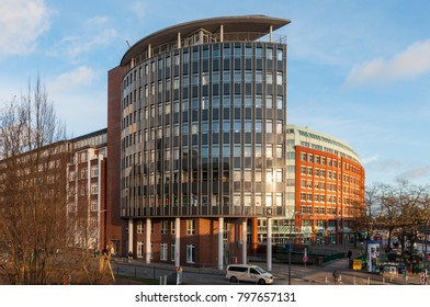 Hamburg Germany - December 16. 2017: Office building in Hamburg Germany