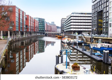 Hamburg, Germany - February 17, 2017: view of city center