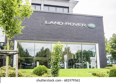 Hamburg / Germany - July 13 2017: Land Rover is a car brand that specialises in four-wheel-drive vehicles