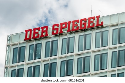 HAMBURG / GERMANY - JULY 14, 2017: Der Spiegel magazine of headquarter in Hamburg is located close to the famous Speicherstadt