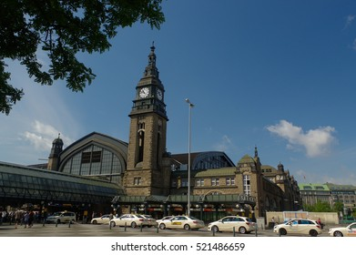 HAMBURG, GERMANY - JULY 18, 2015: Hauptbahnhof in Hamburg, Germany. It is the main railway station in the city, the busiest in the country and the second busiest in Europe.