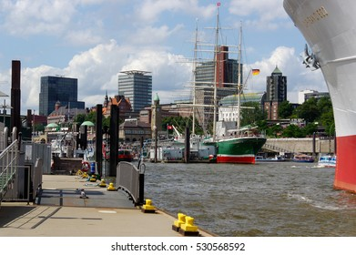HAMBURG, GERMANY - JULY 18, 2015: MS Cap San Diego is a general cargo ship, situated as a museum ship in Hamburg - St Pauli, Germany.