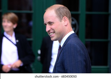 HAMBURG, GERMANY - JULY 21, 2017: PRINCE WILLIAM DURING VISIT IN GERMANY