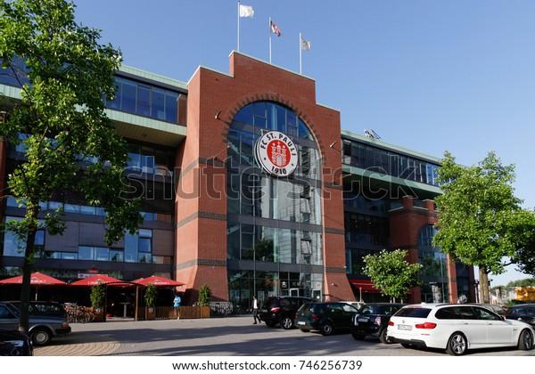 HAMBURG, GERMANY - JULY 9, 2013: FC ST Pauli football stadium in Hamburg city