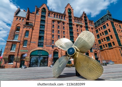 Hamburg, Germany - June 15, 2018: The Maritime Museum (German: Maritimes Museum) in the Warehouse District (German: Speicherstadt).