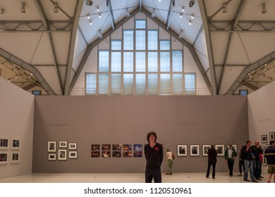 Hamburg, Germany - June 24, 2018: The photography exhibition Triennale in the Deichtorhallen in Hamburg.