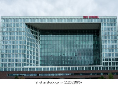 "Hamburg, Germany - June 25, 2018: The office building of the German magazine ""Der Spiegel""."