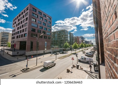 HAMBURG, GERMANY - JUNE 30, 2018:  Warehouse district of Hamburg (Speicherstadt), Germany.