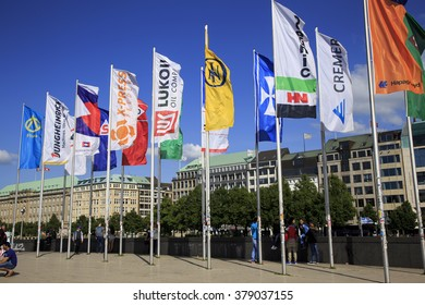 Hamburg, Germany - June 7, Visiting the 29th IAPH World Ports Conference hosted and organised by the Hamburg Port Authority (HPA) on 7 June 2015 in Hamburg, Germany