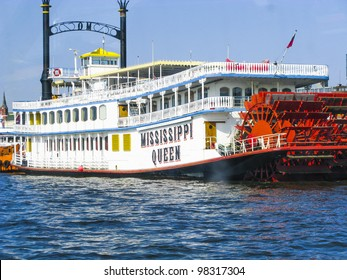 HAMBURG - GERMANY, MARCH 28: the Missisippi Queen built in 1987 is a famous destination for tourists to get the Mississippi feeling on March 28,2011 in Hamburg, Germany,