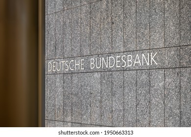 Hamburg, Germany - March 31, 2021: Entrance of the Hamburg branch of the Deutsche Bundesbank (Central Bank of the Federal Republic of Germany).