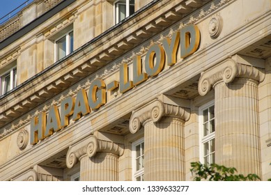 Hamburg / Germany - May 21, 2008: Headquarters of Hapag-Lloyd AG in Hamburg, Germany - Hapag-Lloyd is a multinational transportation company, the world' fifth largest container carrier