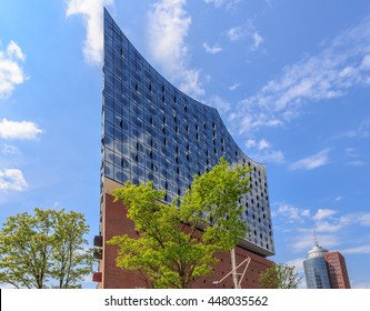 HAMBURG, GERMANY - MAY 30, 2016: Concert Hall Elbphilharmonie in the Hafencity Hamburg