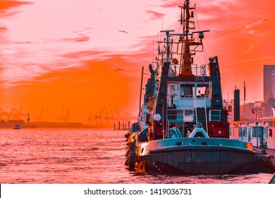 A Tugboat in the Harbor Images, Stock Photos & Vectors