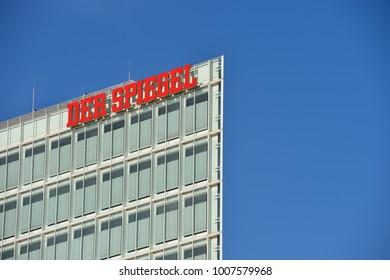 Hamburg / Germany - October 19, 2014: Der Spiegel, German Magazine, Headquarter Ericusspitze, SPIEGEL-Verlag Rudolf Augstein GmbH & Co. KG,
