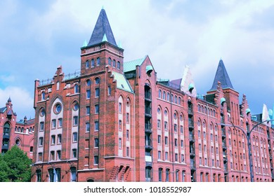 Hamburg, Germany - Speicherstadt (Warehouse District). Famous old harbor warehouses.