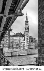 Hamburg, Deutschland. Warehouse District (Deutsch: Speicherstadt), ein Weltkulturerbe der Unesco. Es liegt im Hamburger Hafen.