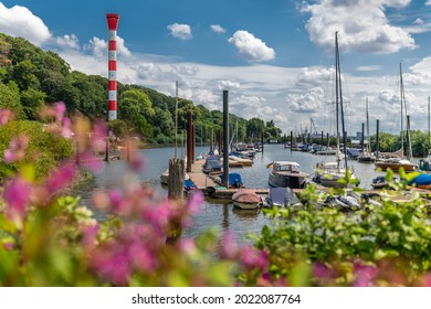 Hamburg, Germany. The yacht harbor Mühlenberg in the district of Blankenese.