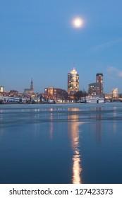 Hamburg Hafencity in the evening