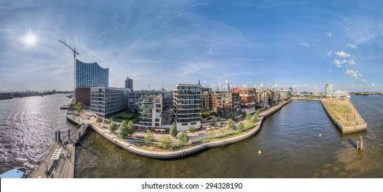 Hamburg Hafencity HDR Aerial Panorama
