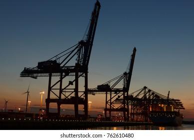 Hamburg harbor Germany