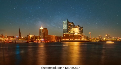Hamburg Panorama with Elbphilharmonie