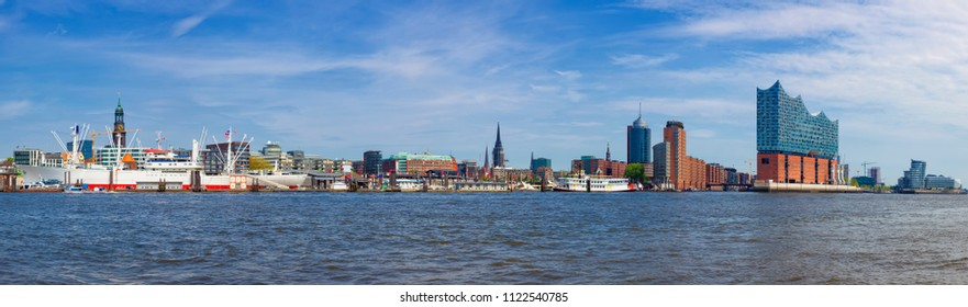 Hamburg waterfront panorama