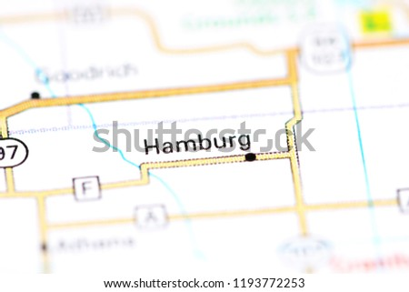 Hamburg Wisconsin USA On Map Stock Photo (Edit Now) 1193772253 ...