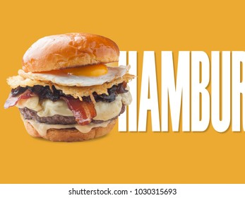 hamburger applied to notice design or promotional sign