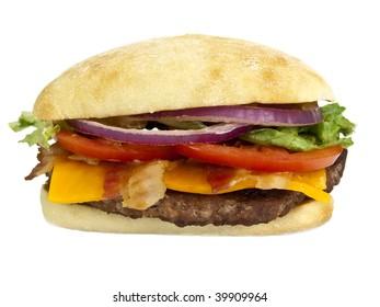 Hamburger blt front view
